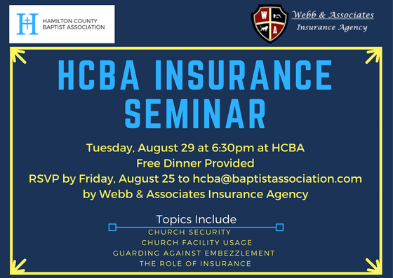Webb & Associates Church Insurance Issues Seminar