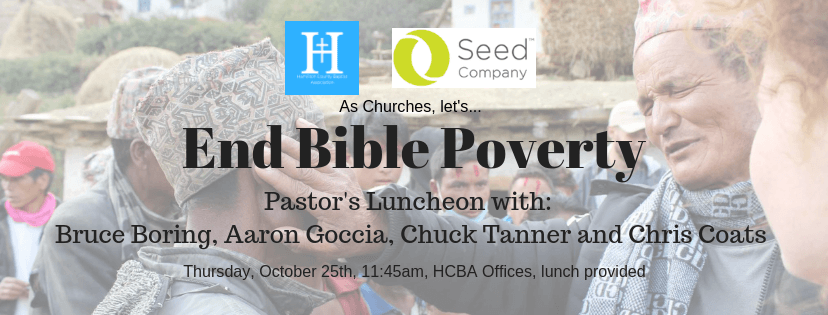 """End Bible Poverty"" Pastor's Lunch"