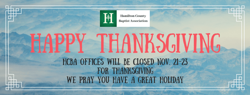 HCBA Offices closed for Thanksgiving