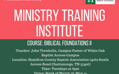 Ministry Training Insttitute – Biblical Foundation II