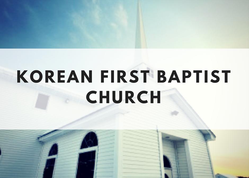 Korean First Baptist Church of Chattanooga