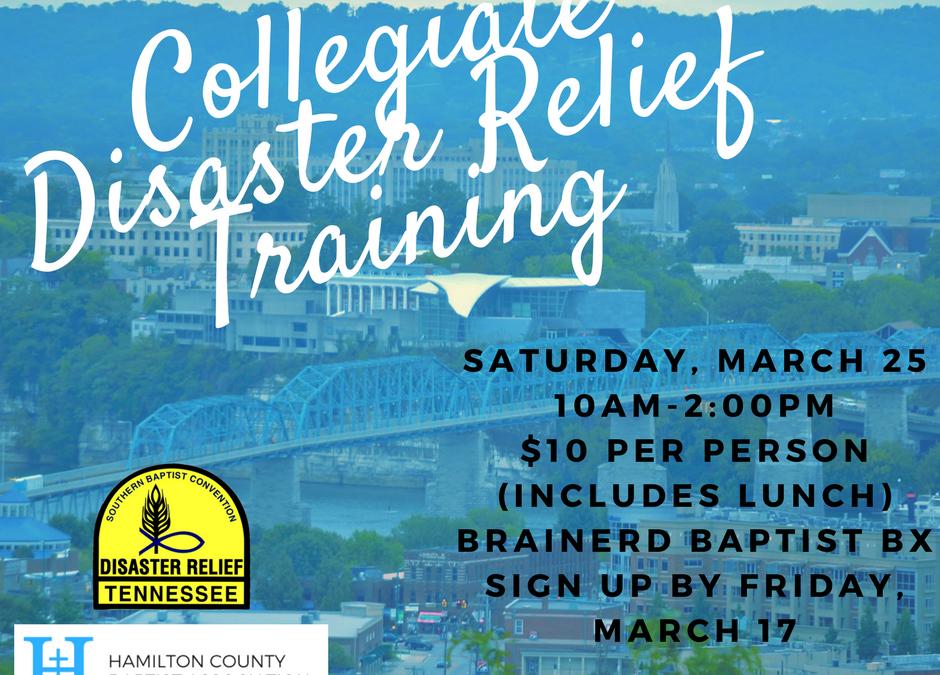 Collegiate Disaster Relief Training