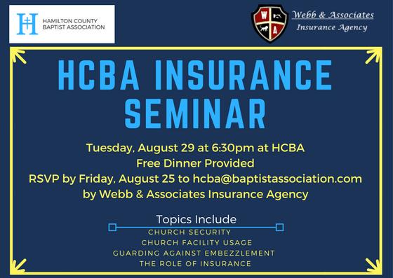 Webb & Associates Church Insurance Issues Seminar