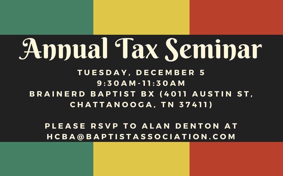Annual Tax Issues Seminar