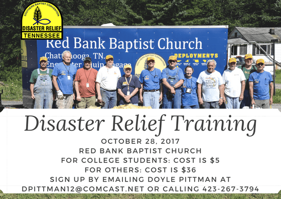 Disaster Relief Training (October)