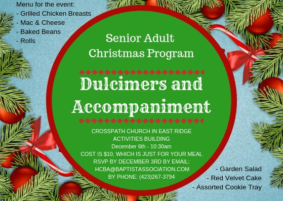 Senior Adult Christmas Event