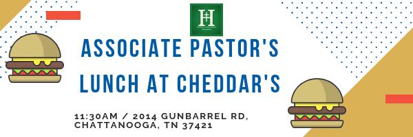 Associate Pastor's Lunch @ Cheddar's