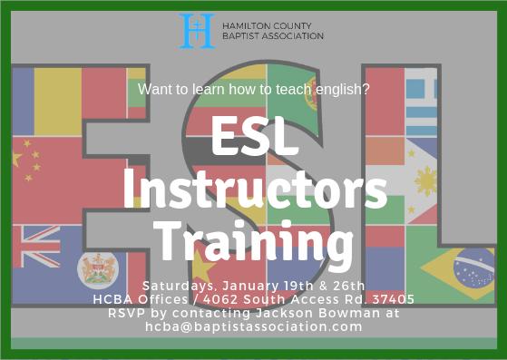 ESL Instructor's Training (January 19th & 26th)
