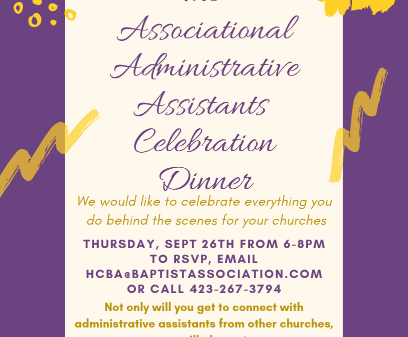 Associational Administrative Assistants Celebration Dinner