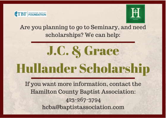 J.C. AND GRACE HULLANDER SCHOLARSHIP FOR SEMINARY