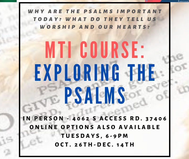 Ministry Training Institute – Exploring the Psalms